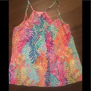 Lilly Pulitzer silk Rory top in Electric Feel XS